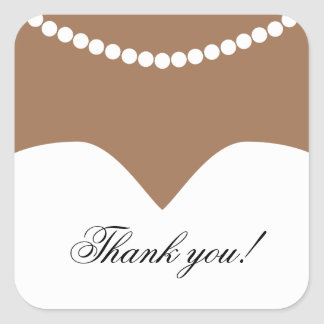Wedding Dress Pearl Necklace Tan Skin Bridal Square Sticker