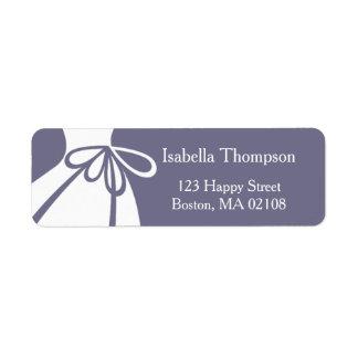 Wedding Dress Return Address Label