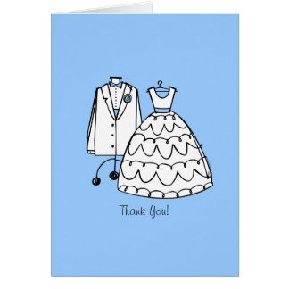 Wedding Dress & Tux Custom Thank You Notes
