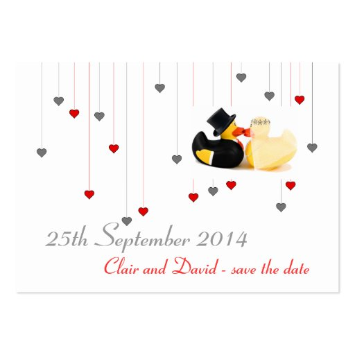 Wedding ducks 3 ... Save the date Business Cards