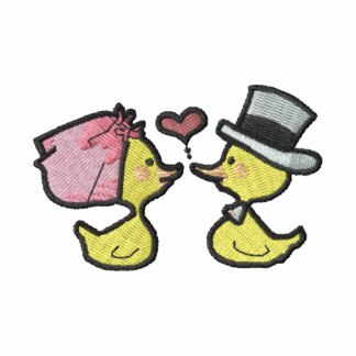 Wedding ducks (black outline)
