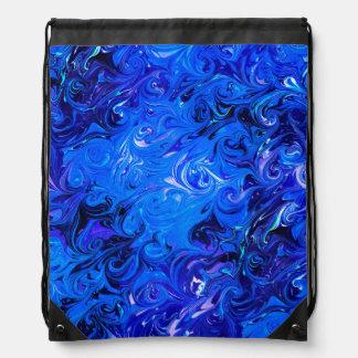 Wedding elegant blue vintage chic pattern drawstring bag