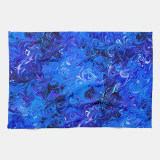 Wedding elegant blue vintage chic pattern kitchen towel