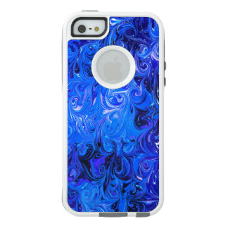 Wedding elegant blue vintage chic pattern OtterBox iPhone 5/5s/SE case
