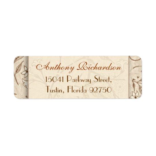wedding elegant floral address labels
