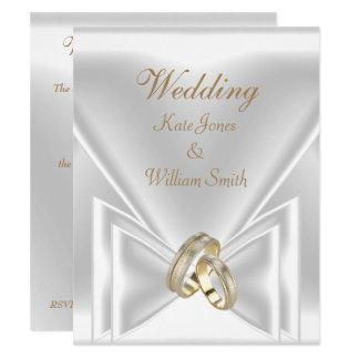 Wedding Elegant White Gold Rings Card