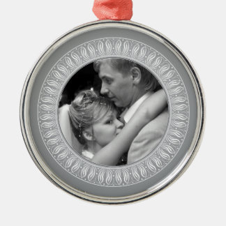 Wedding, Engagement or Anniversary Photo Metal Ornament