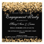 Wedding Engagement Party Gold Lights Invites