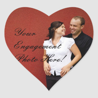Wedding Engagement Photo Stickers Heart Shape