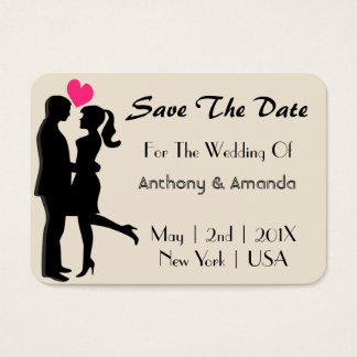 Wedding. Engagement. Save The Date Business Card