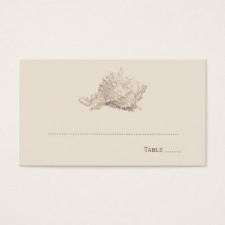 Wedding Escort Place Card | Ivory Seashell