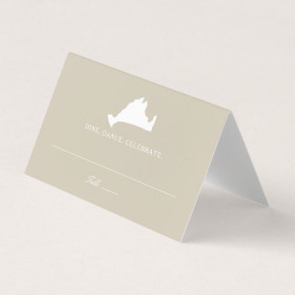 Wedding Escort Place Card Marthas Vineyard Map