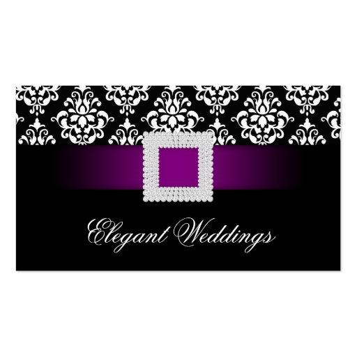 Wedding Event Planner Jewel Purple Black White Business Cards