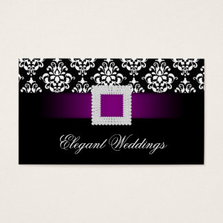 Wedding Event Planner Jewel Purple Black White Business Card