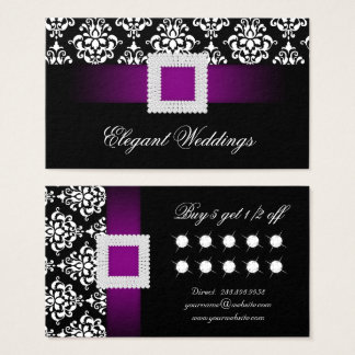 Wedding Event Planner Jewellery Purple Loyalty Business Card