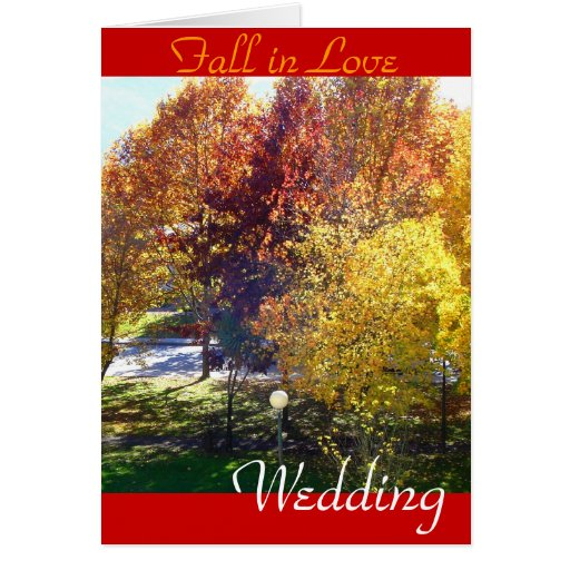 Wedding, Fall in Love invitation Greeting Card