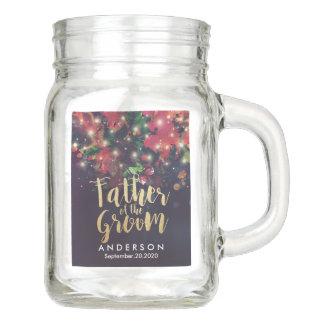 Wedding Father of the Groom Floral String Lights Mason Jar