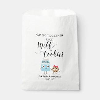 Wedding Favor Bag - We Go Together Cookies & Milk