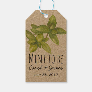 Wedding favor favour tags mint to be kraft pack of gift tags