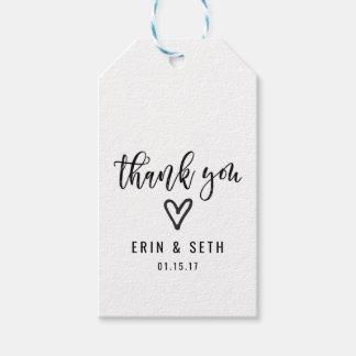 Wedding Favor Gift Tags Custom Thank You Heart