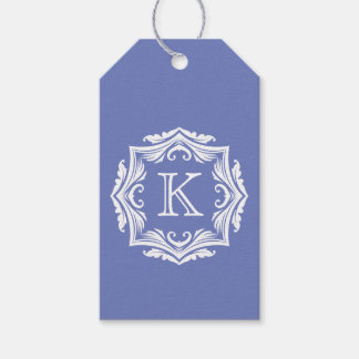 Wedding Favor Gift Tags Monogrammed Custom Color