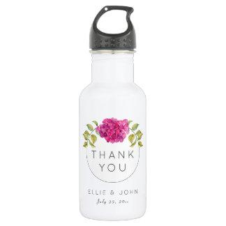 Wedding Favor Hot Pink Hydrangea 532 Ml Water Bottle