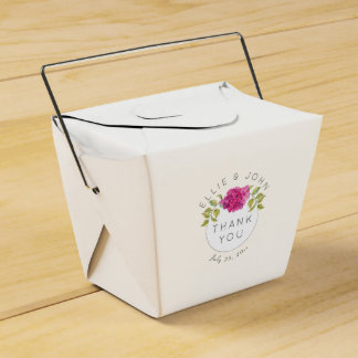 Wedding Favor Hot Pink Hydrangea Favor Box