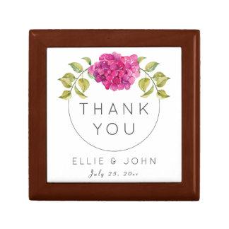 Wedding Favor Hot Pink Hydrangea Gift Box