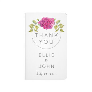 Wedding Favor Hot Pink Hydrangea Journal
