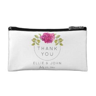 Wedding Favor Hot Pink Hydrangea Makeup Bags