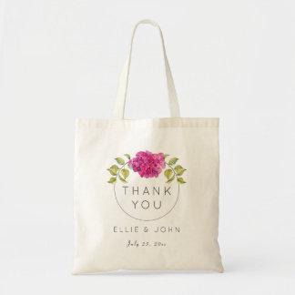 Wedding Favor Hot Pink Hydrangea Tote Bag