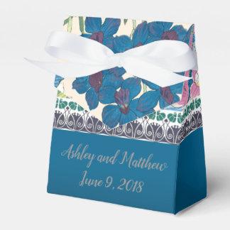 Wedding Favor in Blue Orchids Favor Box