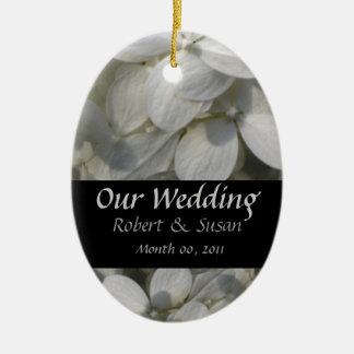 Wedding Favor Keepsake Ceramic Ornament