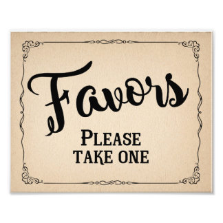 Wedding favor sign, party favor art photo