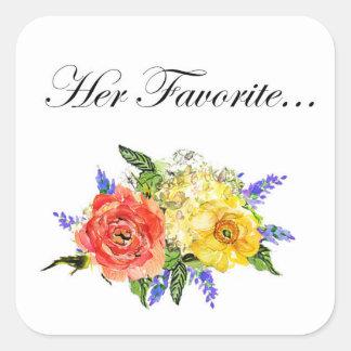 Wedding Favor Sticker