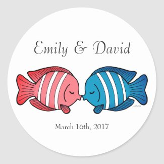 Wedding Favor Sticker Fun Beach Wedding Favor Tag