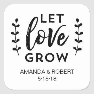 Wedding Favor Sticker | Let Love Grow