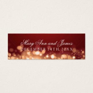 Wedding Favor Tag Sparkling Lights Gold Mini Business Card