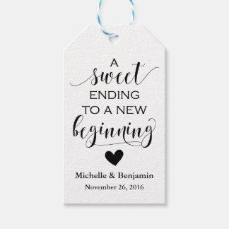 Wedding Favor Tag - Sweet Ending New Beginning