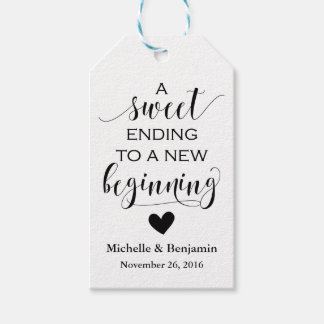 Wedding Favor Tag - Sweet Ending New Beginning Pack Of Gift Tags