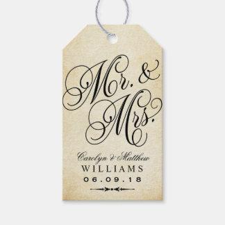 Wedding Favor Tag | Vintage Monogram Pack Of Gift Tags