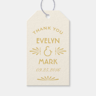 Wedding Favor Tags | Art Deco Style Pack Of Gift Tags