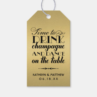 Wedding Favor Tags | Drink Champagne and Dance