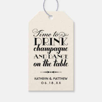 Wedding Favor Tags | Drink Champagne and Dance Pack Of Gift Tags