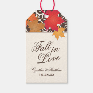 Wedding Favor Tags | Fall in Love Theme Pack Of Gift Tags