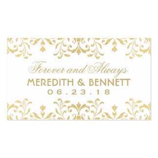 Wedding Favor Tags | Gold Vintage Glamour Business Card