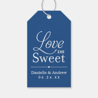 Wedding Favor Tags | Love is Sweet - Blue