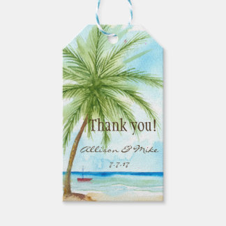 Wedding Favor Tags- Tropical Beach Gift Tags