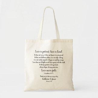 Wedding Favor/Thank You; Corinthians, CUSTOMIZE Tote Bag
