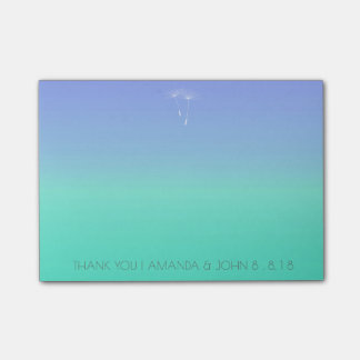 Wedding Favor Thank You Ocean Blue Ombre Post-it Notes